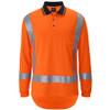 6DTLP - JB's Hi Vis (D+N) L/S Non-Cuff TTMC-W17 Traditional Polo - Orange