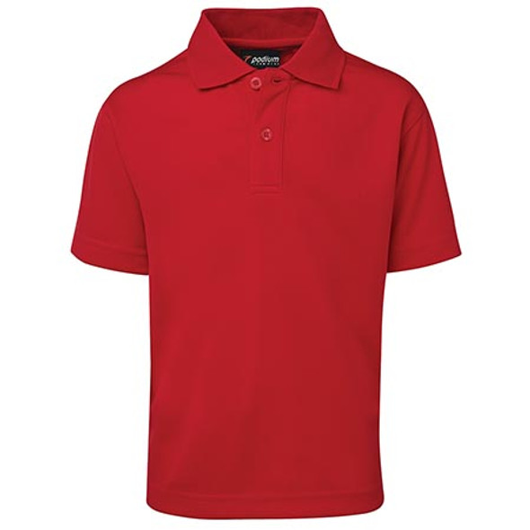 7KSP - JB's Kids S/S Poly Polo - Red