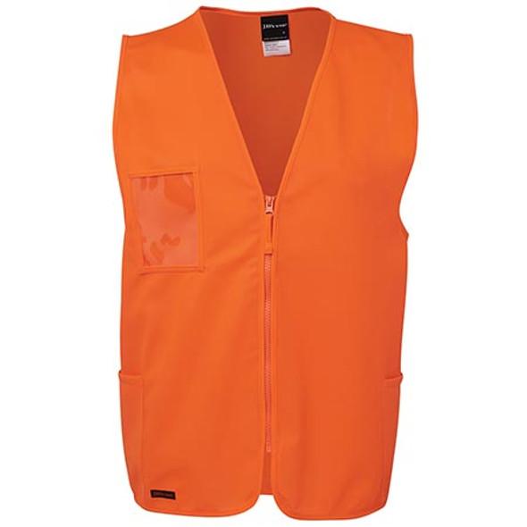 6HVSZ - JB's Hi Vis Zip Safety Vest - Orange