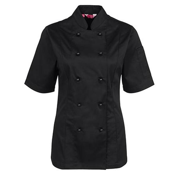 5CJ21 - JB's Ladies S/S Chefs Jacket - Black