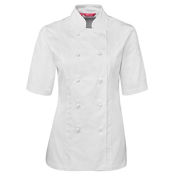 5CJ21 - JB's Ladies S/S Chefs Jacket - White