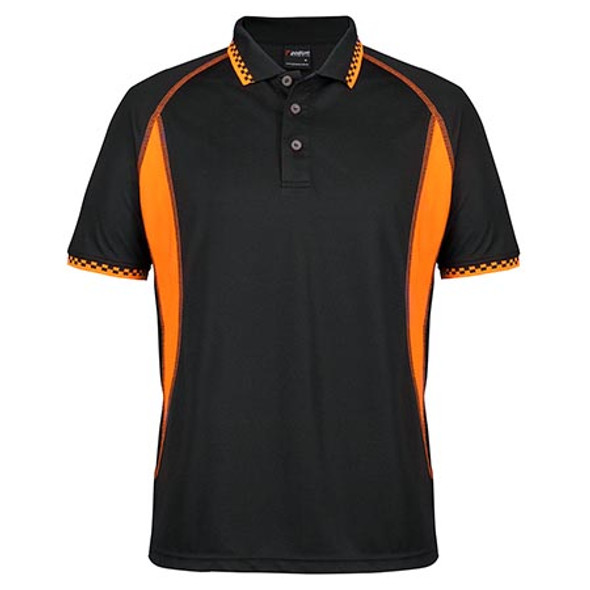 7IMP - Podium Insert Moto Polo - Black/Orange