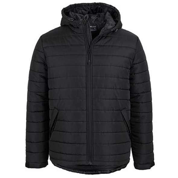 Black - 3AHJ Hooded Puffer Jacket - JBs Wear