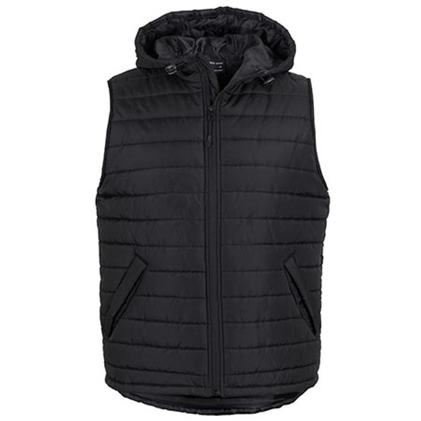 Black - 3AHV Hooded Puffer Vest - JBs Wear