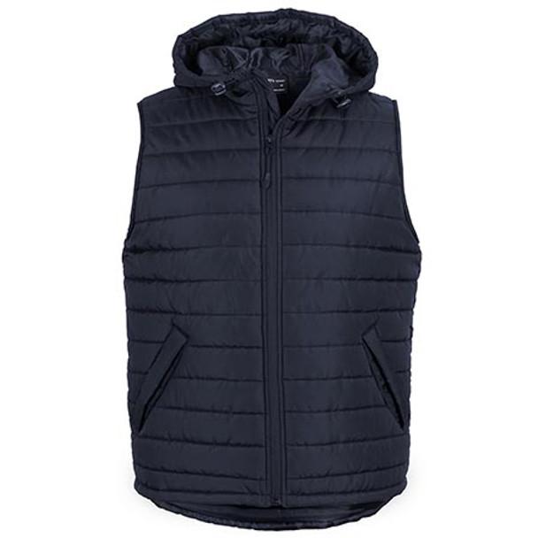 Navy - 3AHV Hooded Puffer Vest - JBs Wear