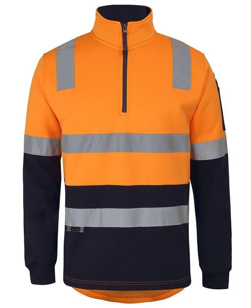 6DARF - JB's 1/2 Zip Aust. Rail (D+N) Fleece Sweater