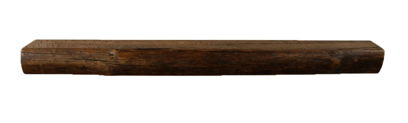 1836 - 4x5.5x54 Reclaimed Floating Mantel, Heavy Duty, Easy Hang, Solid Wood, Rustic, USA Handmade,