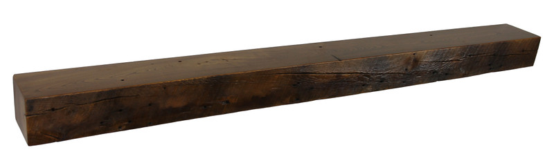 2035 - 4.5x6x66 Reclaimed Floating Mantel, Heavy Duty, Easy Hang, Solid Wood, Rustic, USA Handmade, Ash