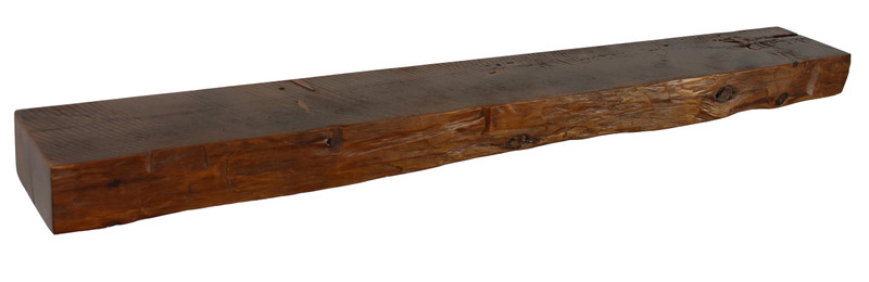 2036 - 3.75x8x66 Reclaimed Floating Mantel, Heavy Duty, Easy Hang, Solid Wood, Rustic, USA Handmade, Pine
