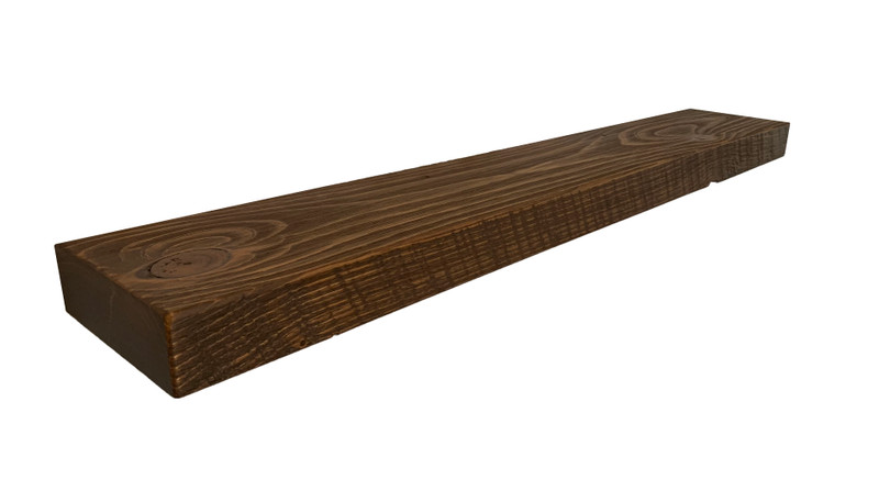2249 - 2x6x36 Reclaimed Floating Mantel, Heavy Duty, Easy Hang, Solid Wood, Rustic, USA Handmade, Not Quite Right