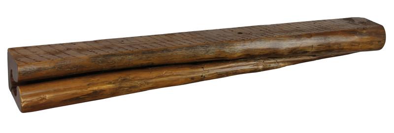2047 - 6x7.25x71.75 Reclaimed Floating Mantel, Heavy Duty, Easy Hang, Solid Wood, Rustic, USA Handmade, Cedar