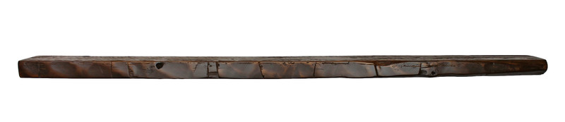 """2064 - 2"""" x 5"""" x 60"""" CLEARANCE, Not Quite Right, Reclaimed Floating Mantel, Heavy Duty, Easy Hang, Solid Wood, Rustic, USA Handmade"""