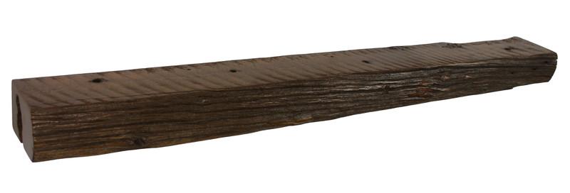 2050 - 4.75x7x66 Reclaimed Floating Mantel, Heavy Duty, Easy Hang, Solid Wood, Rustic, USA Handmade, Cedar