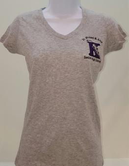 Krop Womens Fitted V-Neck