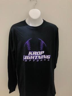 Krop Softball Crew Neck  L/S