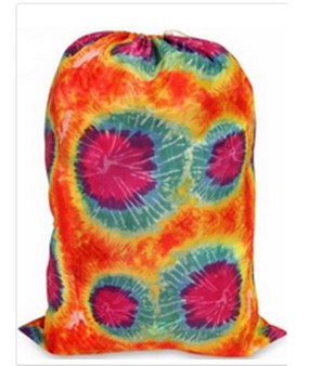 Orange Tie Dye Laundry Bag