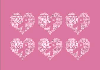 Breast Cancer Awareness Heart Mask