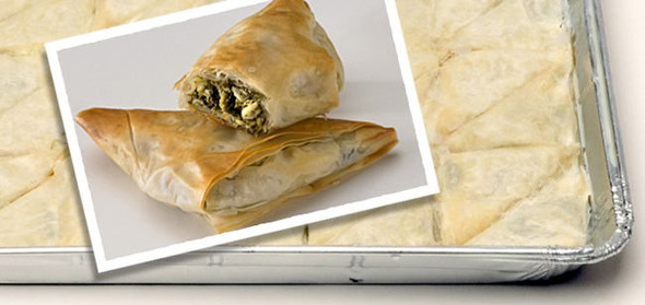 Spinach Pie/Spanakopita Tray 48pcs/1oz Kontos (48oz)