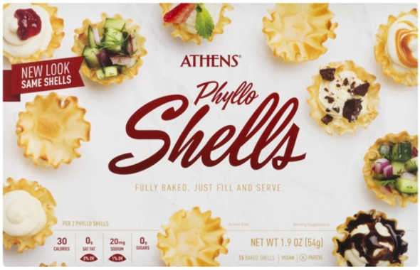 Phyllo Shells Athens 15 pcs (1.9oz)