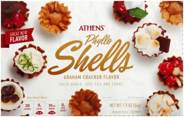 Phyllo Shells Graham Cracker Flavor Athens 15 pcs (1.9oz)