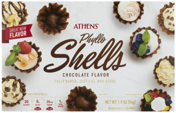 Phyllo Shells Chocolate Flavor Athens 15 pcs (1.9oz)