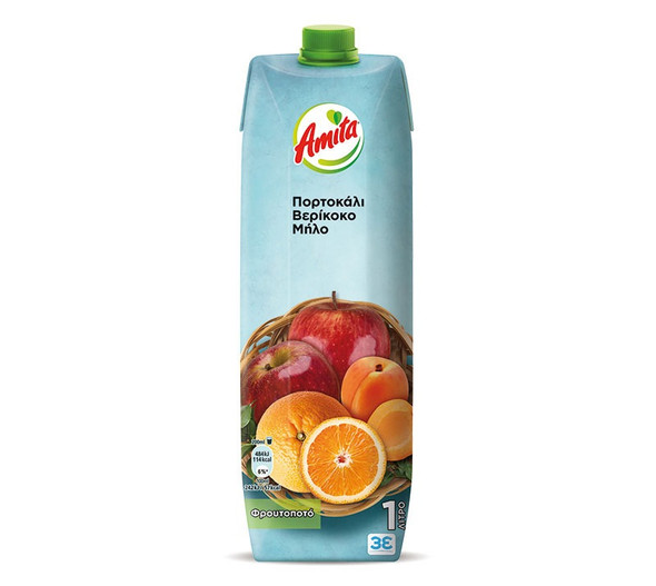 Amita Orange, Apricot, & Apple (1L)
