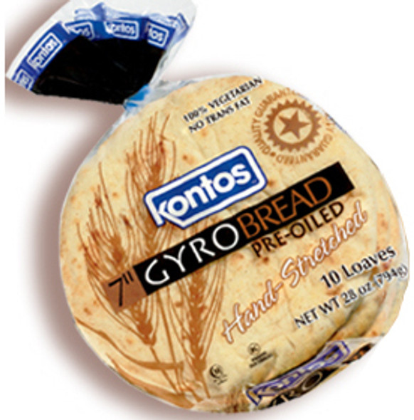 """Gyro Bread 7"""" Kontos (28oz)"""