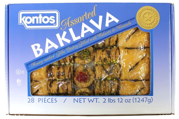 Baklava Assortment Kontos 28pcs (46oz)