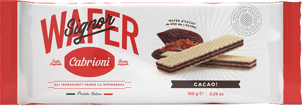 Wafers with Chocolate Cream Cabrioni (5.29oz)