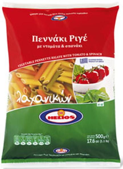 Vegetable Penne Rigate Helios (500g)