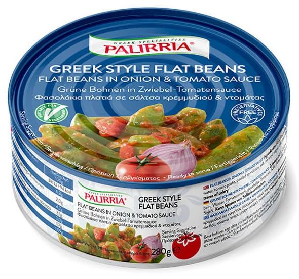 Flat Beans in Onion & Tomato Sauce Palirria (10oz)