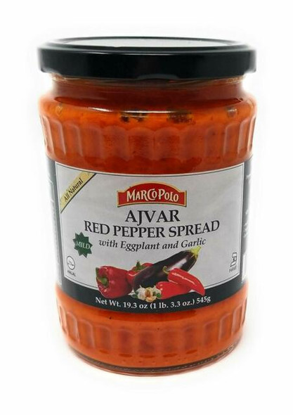 Ajvar Mild Red Pepper Spread with Eggplant & Garlic Marco Polo (19.3oz)