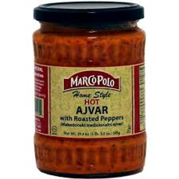 Ajvar Hot Homestyle with Roasted Peppers Spread  Marco Polo (19.3oz)