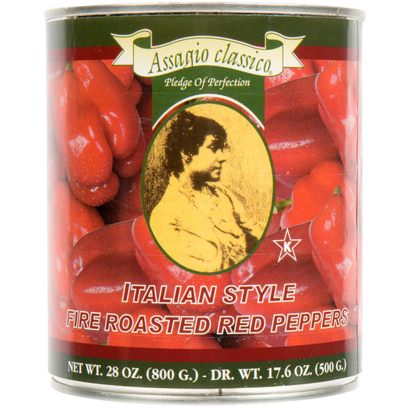 Fire Roasted Red Peppers Assagio Classico (28oz)
