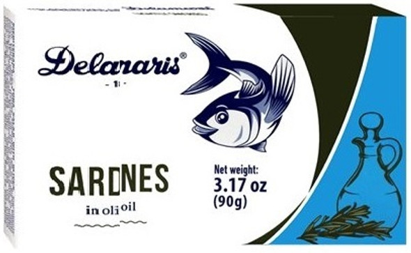 Sardines in Olive Oil Delamaris (3.17oz)