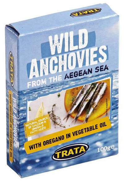 Wild Anchovies with Oregano in Soybean Oil Trata (100g)