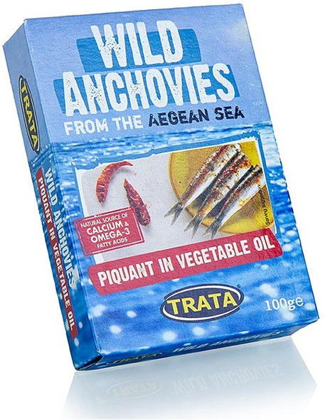 Wild Anchovies with Chili Peppers in Soybean Oil Trata (100g)