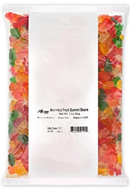 Assorted Fruit Gummi Bears Albanese (5lb)