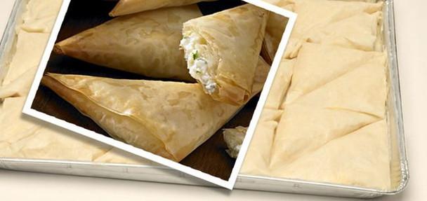 Cheese Pie/Tyropita Tray 80pcs/0.5oz Kontos (40oz)
