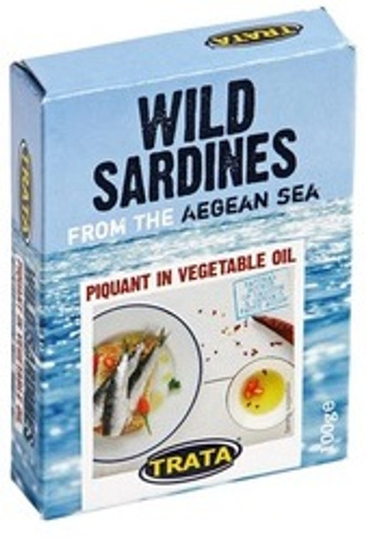 Wild Sardines with Chili Peppers in Soybean Oil Trata (100g)