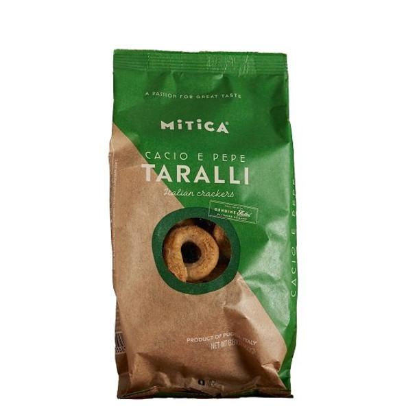 Taralli Cacio e Pepe Crackers Mitica (250g)