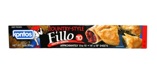 Fillo Dough Country Style #10 Kontos (1lb)