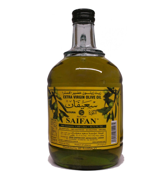 Saifan Unfiltered Extra Virgin Olive Oil (1.5L)