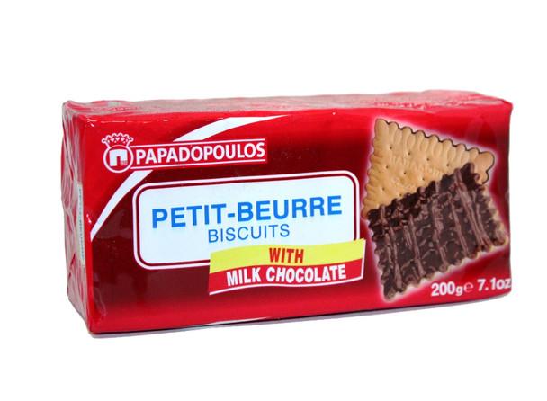 Petit-Beurre Milk Chocolate Papadopoulos (200g)