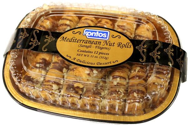 Saragli Nut Rolls Kontos 12pcs (11oz)