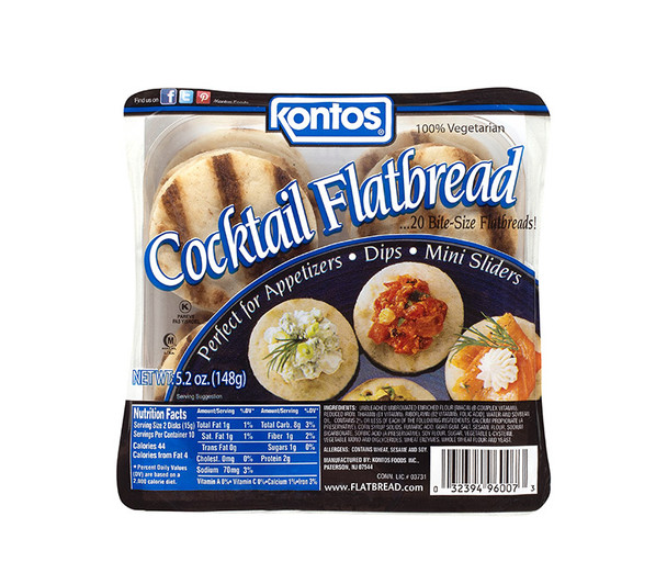Cocktail Flatbread Kontos (5.2oz)