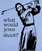 """Women's """"What Would Jesus Shoot?"""" - SMALL"""