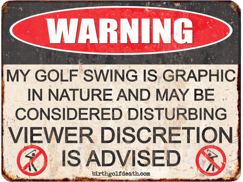 *NEW* Golf Swing Warning