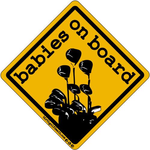 Babies on Board - Black & Yellow