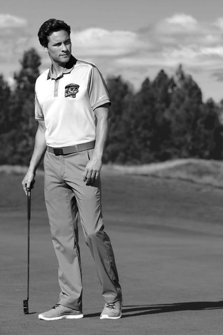 birth.golf.death. Devilock Golf Polo - White/Grey - Victor's Skull